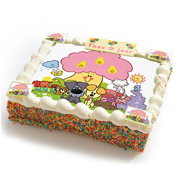 Woezel en Pip strip taart-0