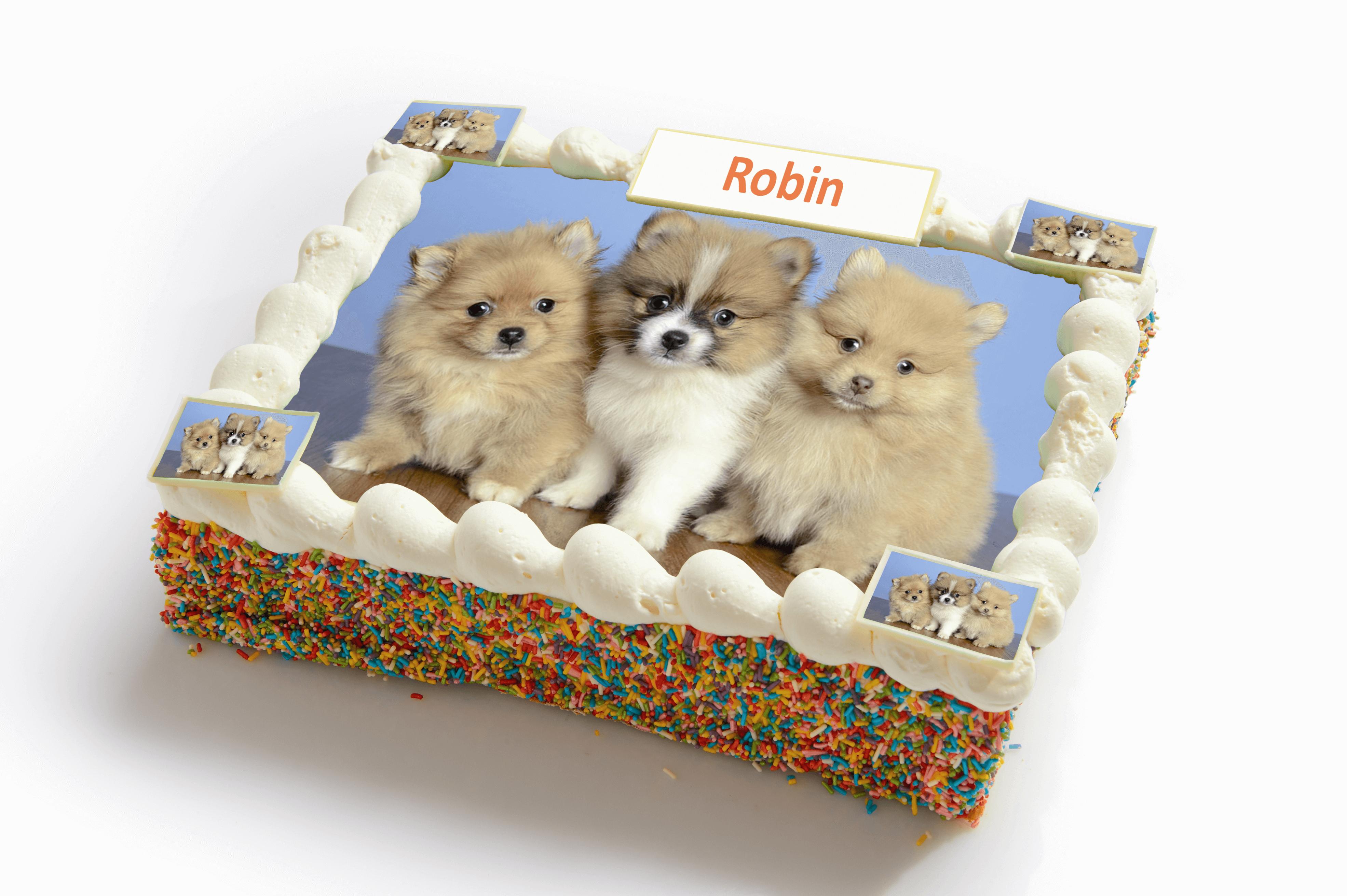 Honden strip taart