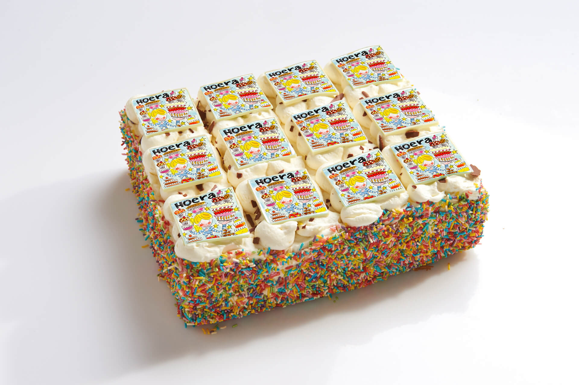 Blond Amsterdam stripjes taart