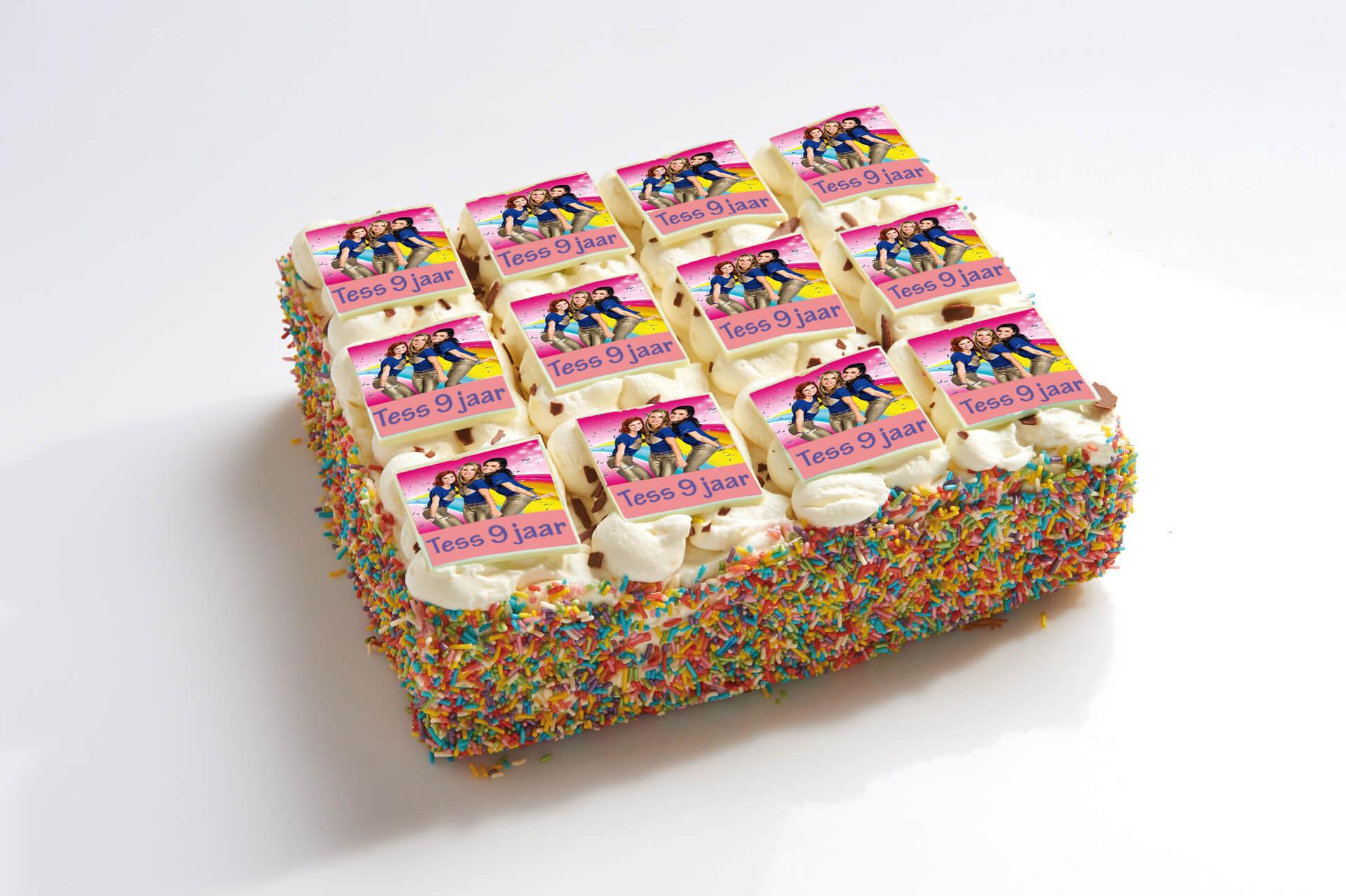 K3 stripjes taart