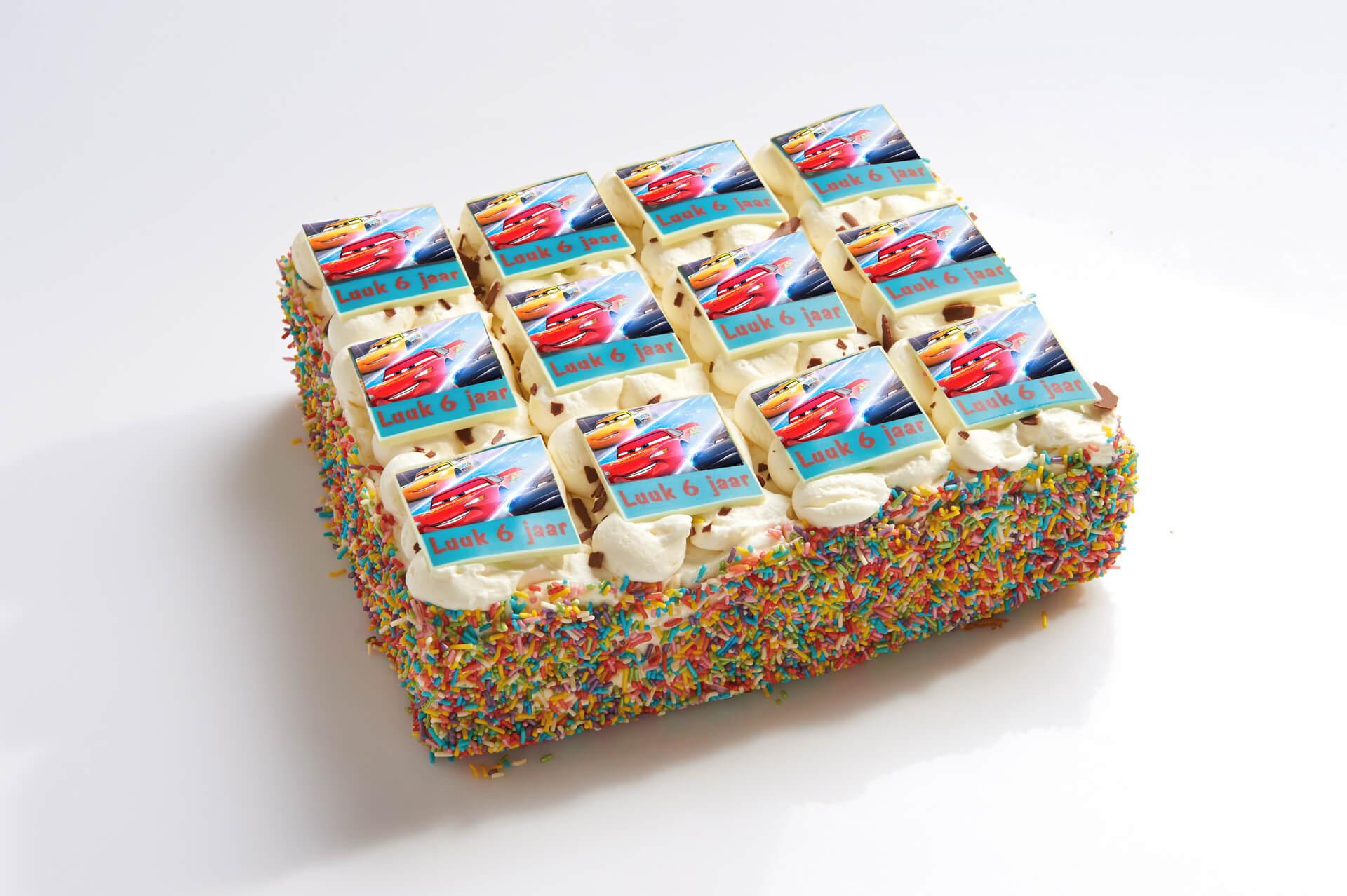 Disney Cars stripjes taart