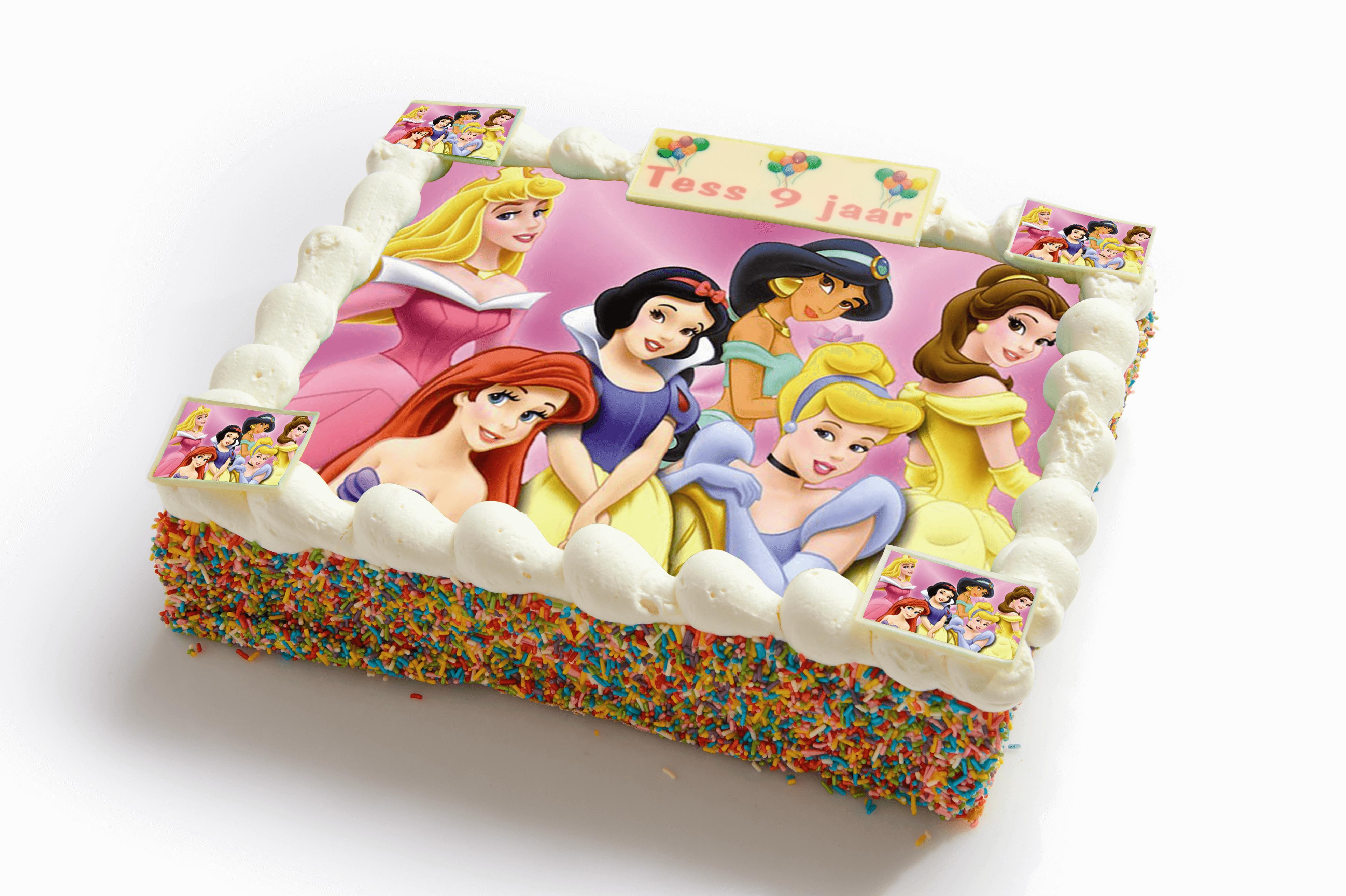 Prinsessen strip taart