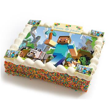 Minecraft strip taart