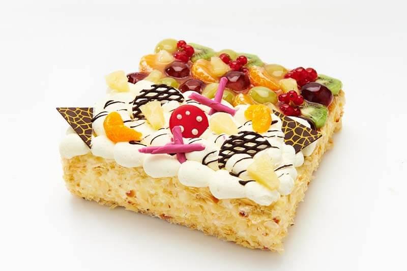 Duo slagroom vruchten taart