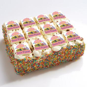 Woezel en Pip stripjes taart