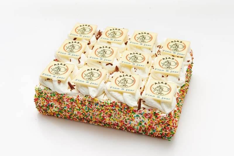 Ajax stripjes taart
