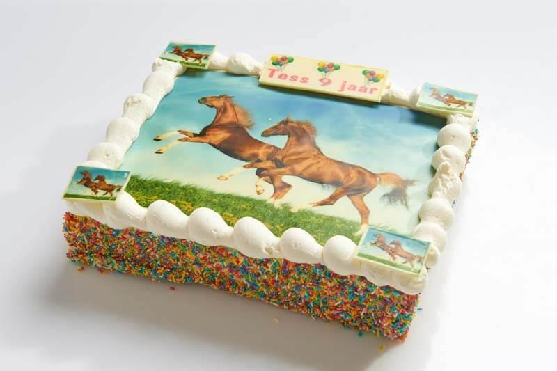 Paarden strip taart