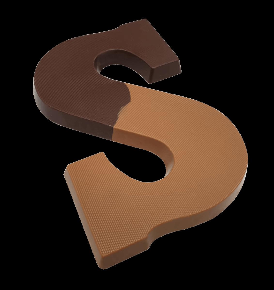 Chocoladeletter 220 gram DUO MELK & PUUR