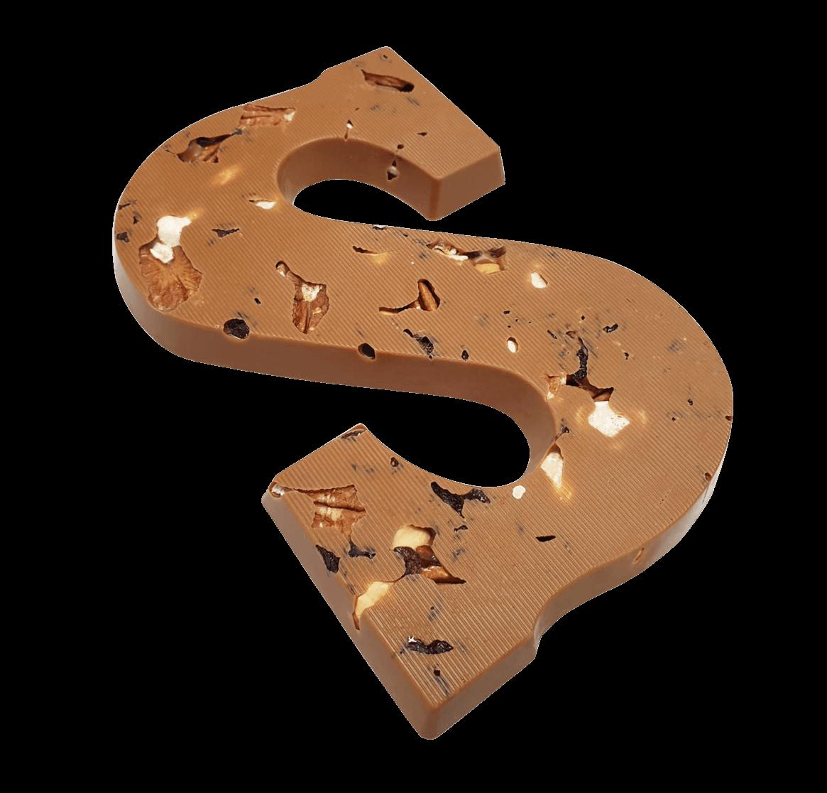 Chocoladeletter 220 gram MELK MET NOTEN