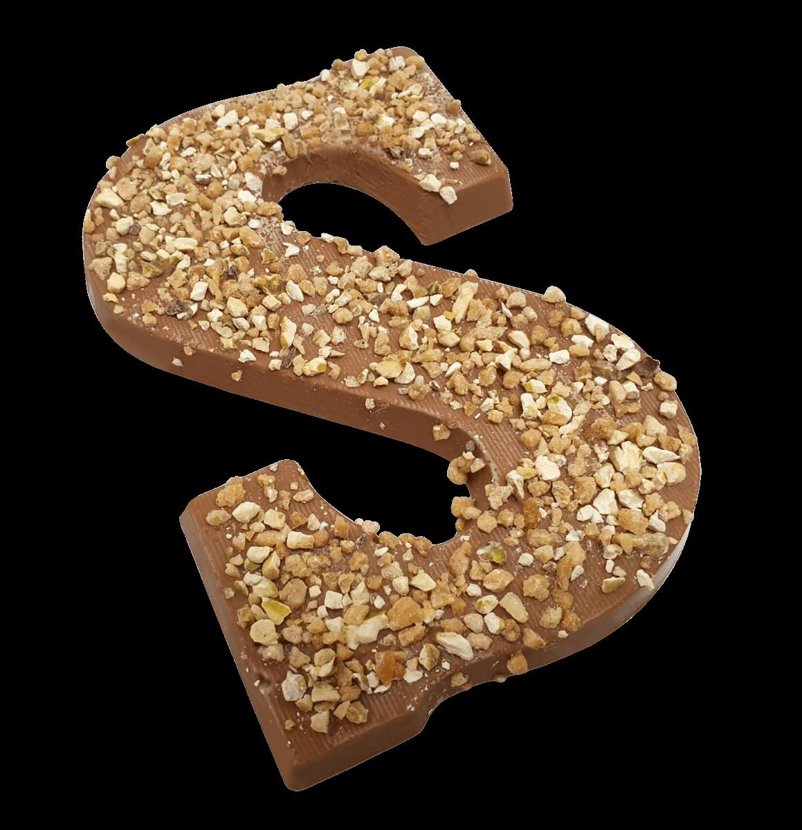 Chocoladeletter 220 gram HAZELNOOT CRUNCH