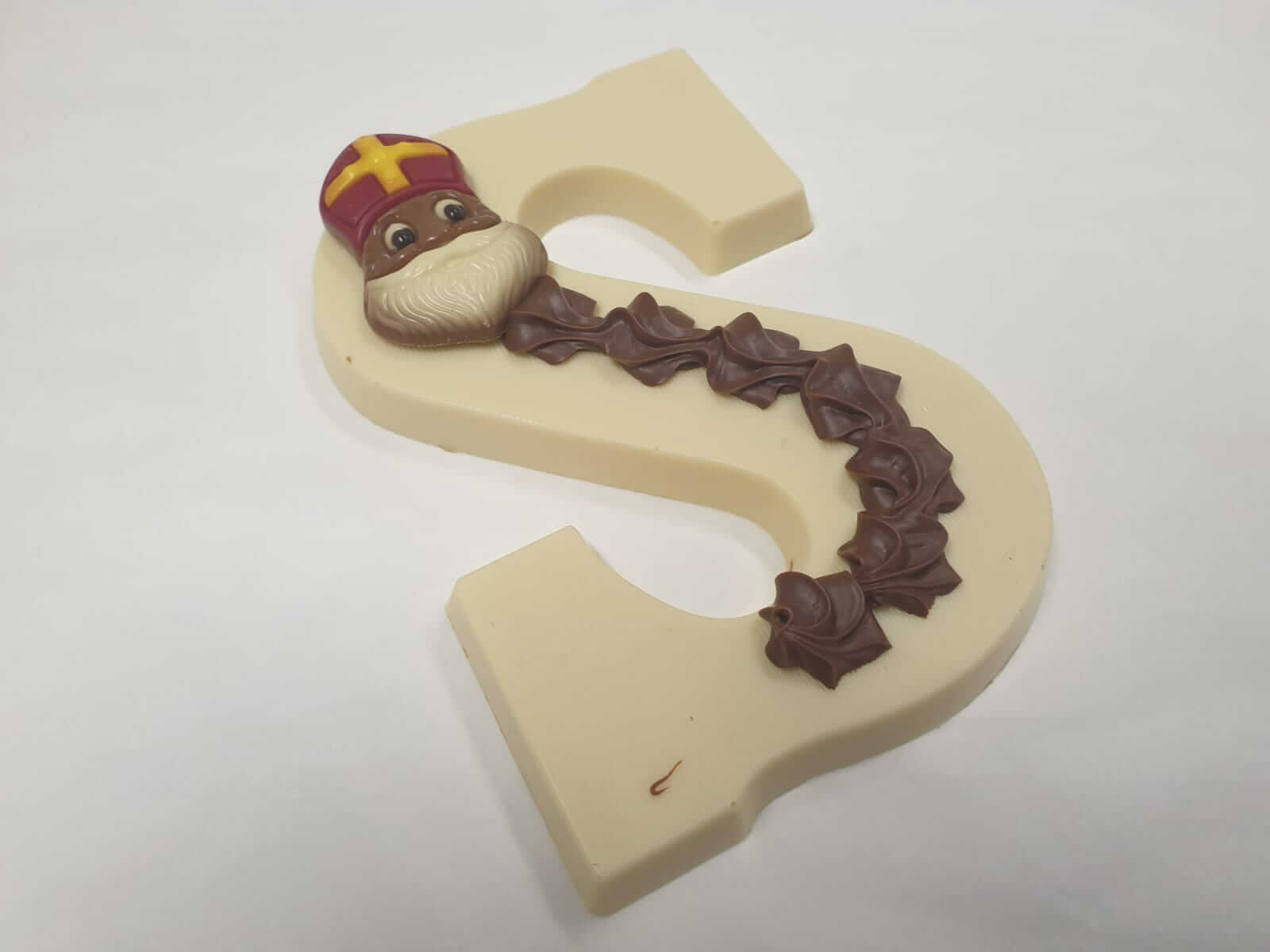 Chocoladeletter groot 220 gram WIT