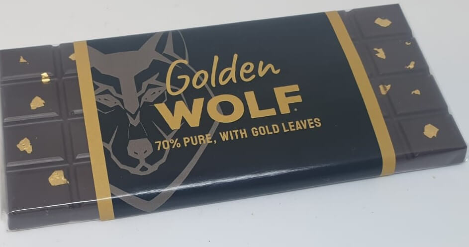 Golden Wolf 70% pure chocolate